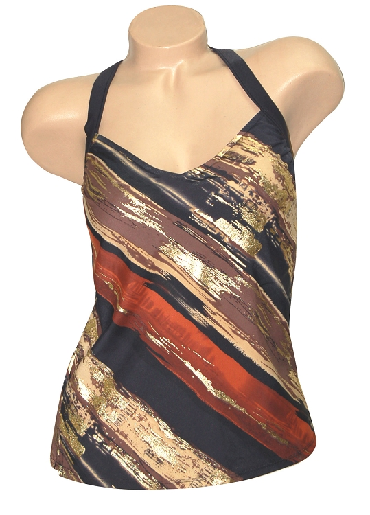 32cd3975190eb Carol Wior Desert Winds Tankini Top 83281-962-DW