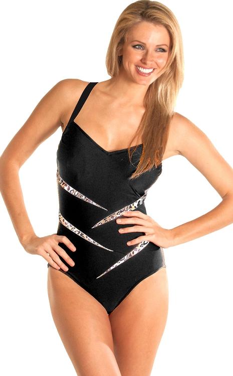80d9038a19be5 Carol Wior Swimsuit Leopard Splice Slimsuit B13702-962