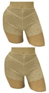 Carol Wior : Set of 2 Lace Shaping Shorts   A13760/E200