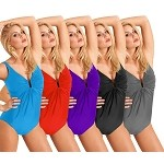 Slimsuit by Carol Swim:  U Wire Shirred Front Tank B6000
