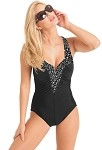 Carol Wior Swimsuit 10-0138CB Champagne Bubbles V Wire Swimsuit with Control