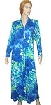 Carol Wior Soft Cotton Blend Zip Front Floral Lounging Robe with Zip Tassel