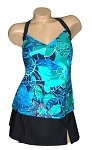 Carol Wior Swimsuit 3727N Emerald Cove Tankini/Skirtini