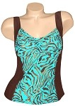 Carol Wior Bronze Goddess Hourglass Tankini TOP NB4732 Brown