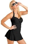 Shape Detector by Carol Wior:  Sweetheart Classic Black Bandeau Swimdress  229319_Blk