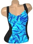 Niki Bridges Blue Bermuda Tankini TOP NB500-964