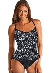 SLIMSUIT by Carol Wior:  Champagne Bubbles 1 Pc Tankini Swimsuit with Side Tie   3671CB
